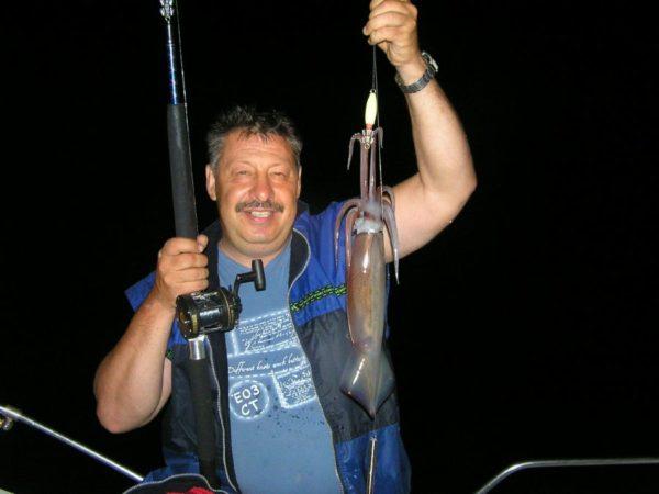 ловля кальмаров в Таиланде